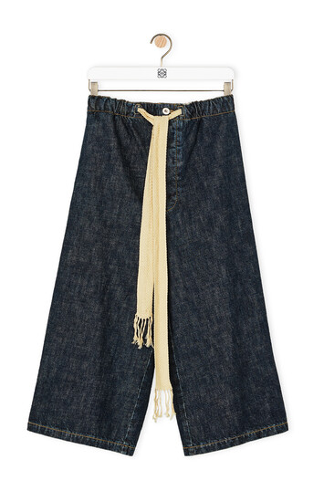 LOEWE Drawstring Denim Shorts インディゴ front