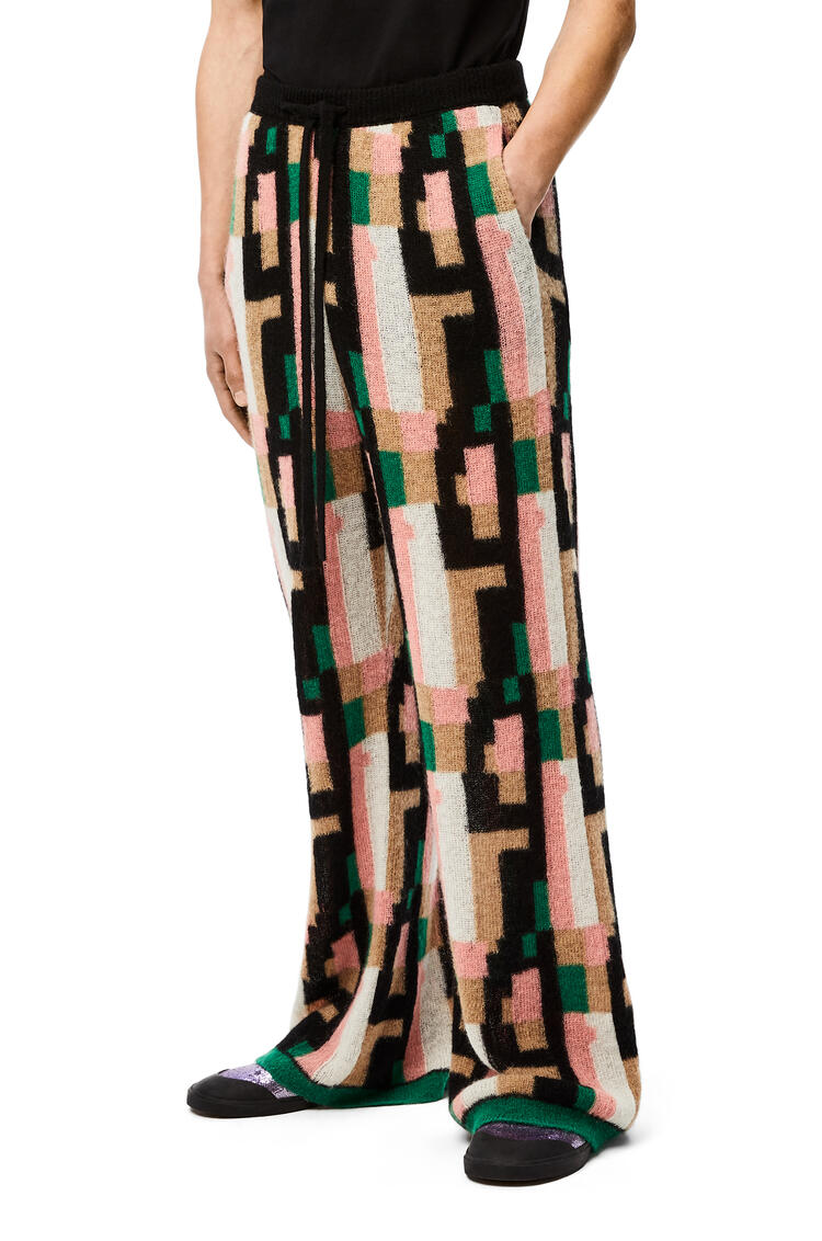 LOEWE Trousers in graphic mohair Pink/Green/Beige pdp_rd