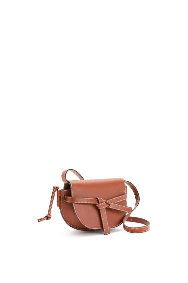 LOEWE Mini Gate dual bag in natural calfskin Rust Color pdp_rd