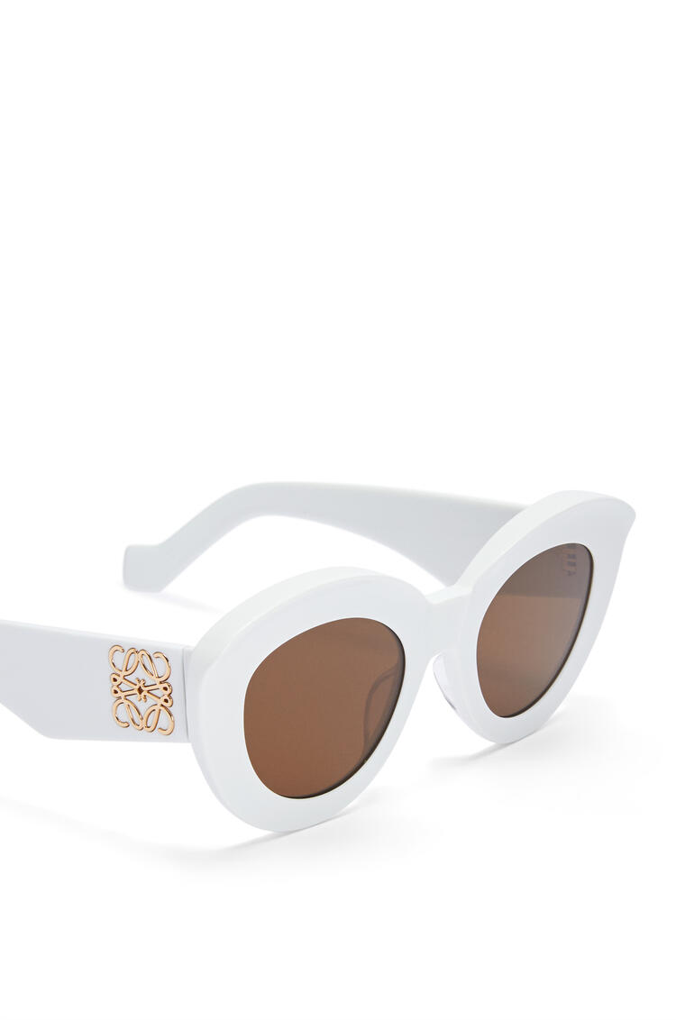 LOEWE Gafas de sol Butterfly en acetato con Anagrama Blanco Brillo pdp_rd