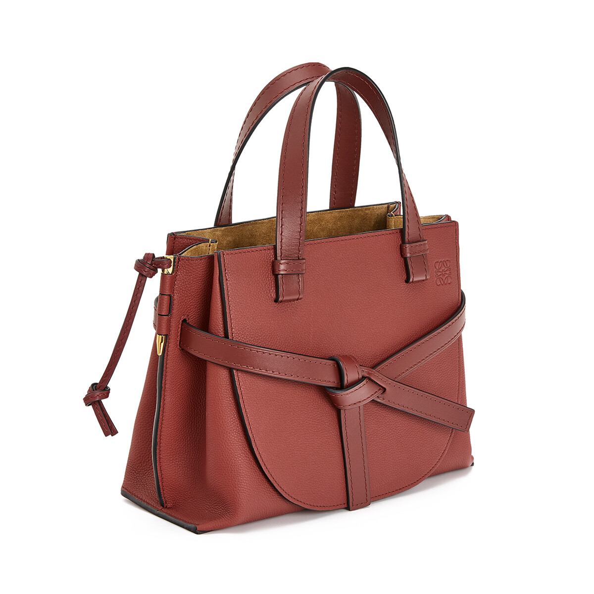 LOEWE Gate Top Handle Small Garnet front