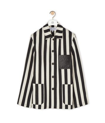 LOEWE Stripe Workwear Jacket White/Black front