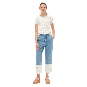 LOEWE Tシャツロゴ calico front