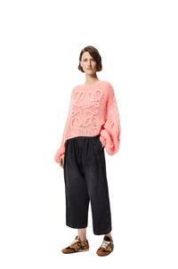 LOEWE Anagram knitted sweater in mohair Pink Tulip pdp_rd