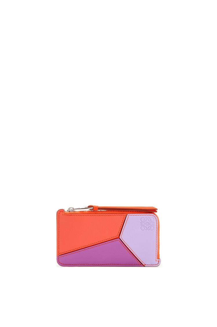 LOEWE Puzzle coin cardholder in classic calfskin Grapefruit/Mauve pdp_rd