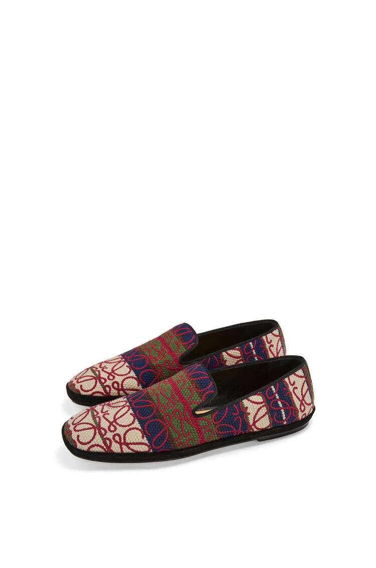 LOEWE Anagram slipper in canvas Ivory/Red pdp_rd