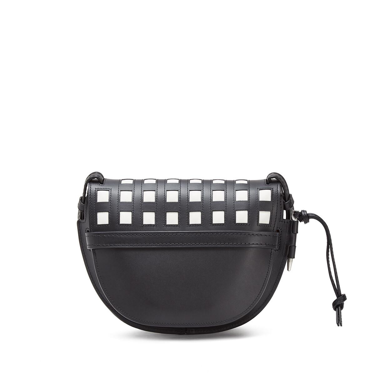 LOEWE Gate Grid Small Bag Black/White front