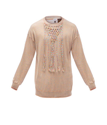 LOEWE Paula Net Sweater Multicolor front