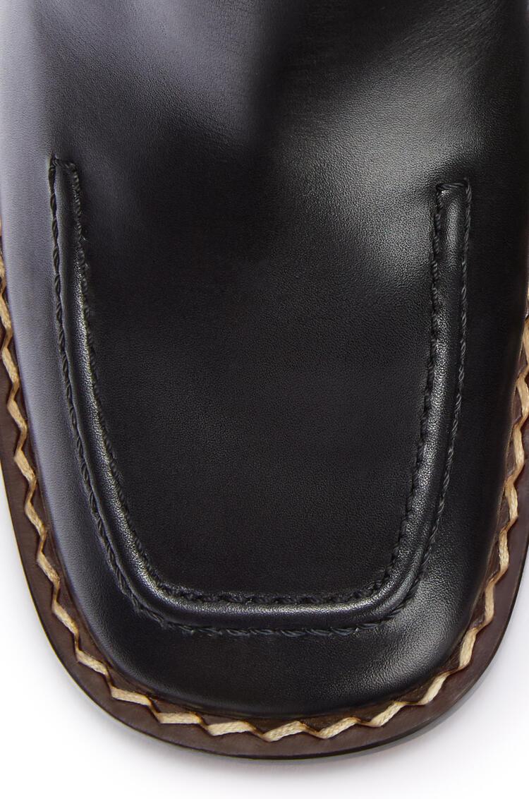 LOEWE Heel mule 75 in calf Black pdp_rd