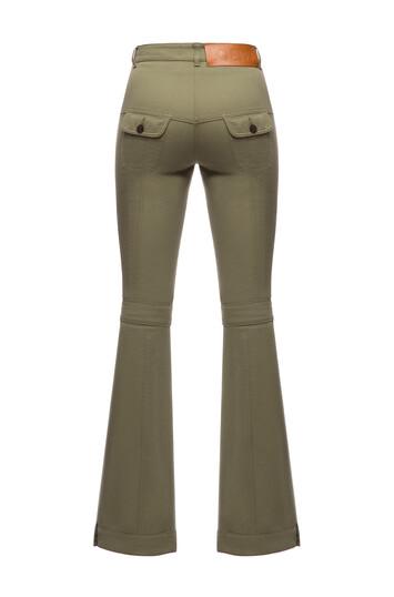 LOEWE Flare Trousers Khaki Green front