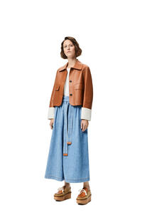 LOEWE Button jacket in nappa Tan pdp_rd