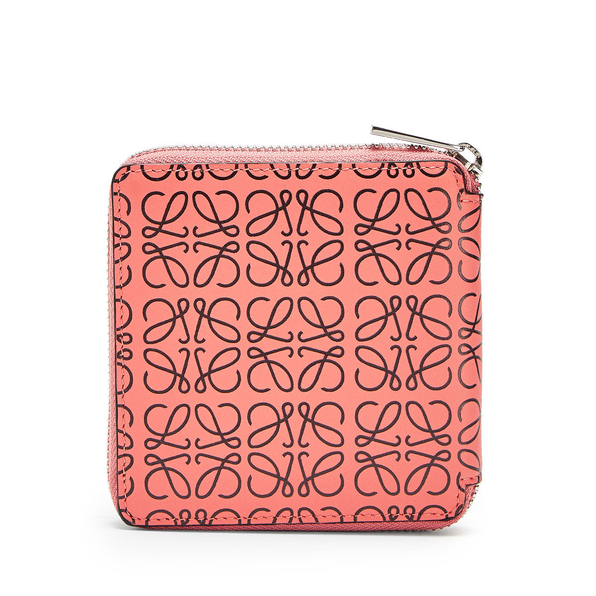 LOEWE Square Zip Wallet Pink Tulip/Black all