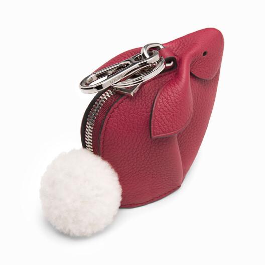 LOEWE Bunny Charm Raspberry front