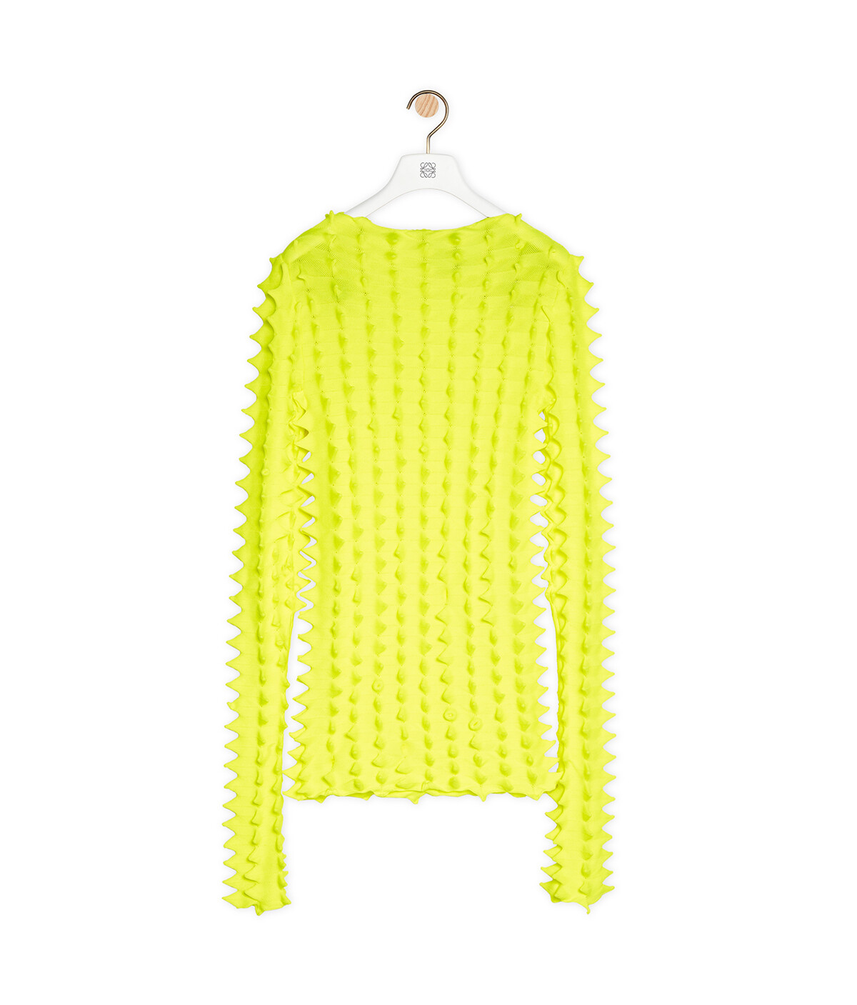 LOEWE 3D Knitted Sweater In Polyester Yellow Lemon front