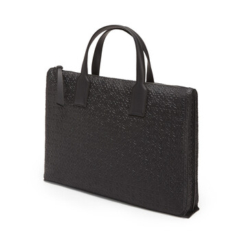 LOEWE Portadocumentos Simple Goya Negro front