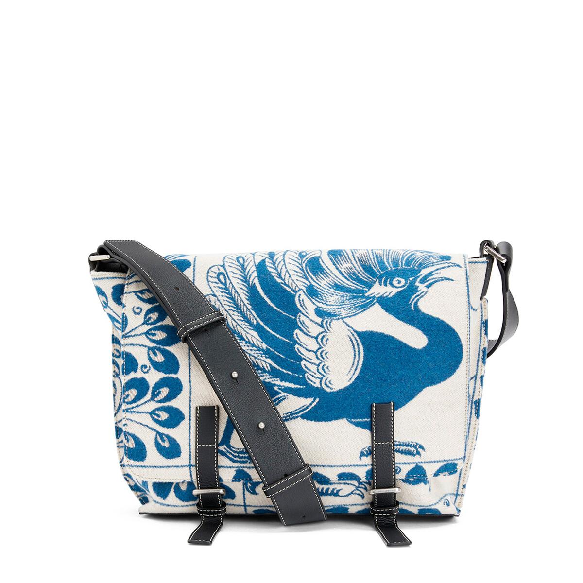 LOEWE Military Messenger Tiles Bag Blue front