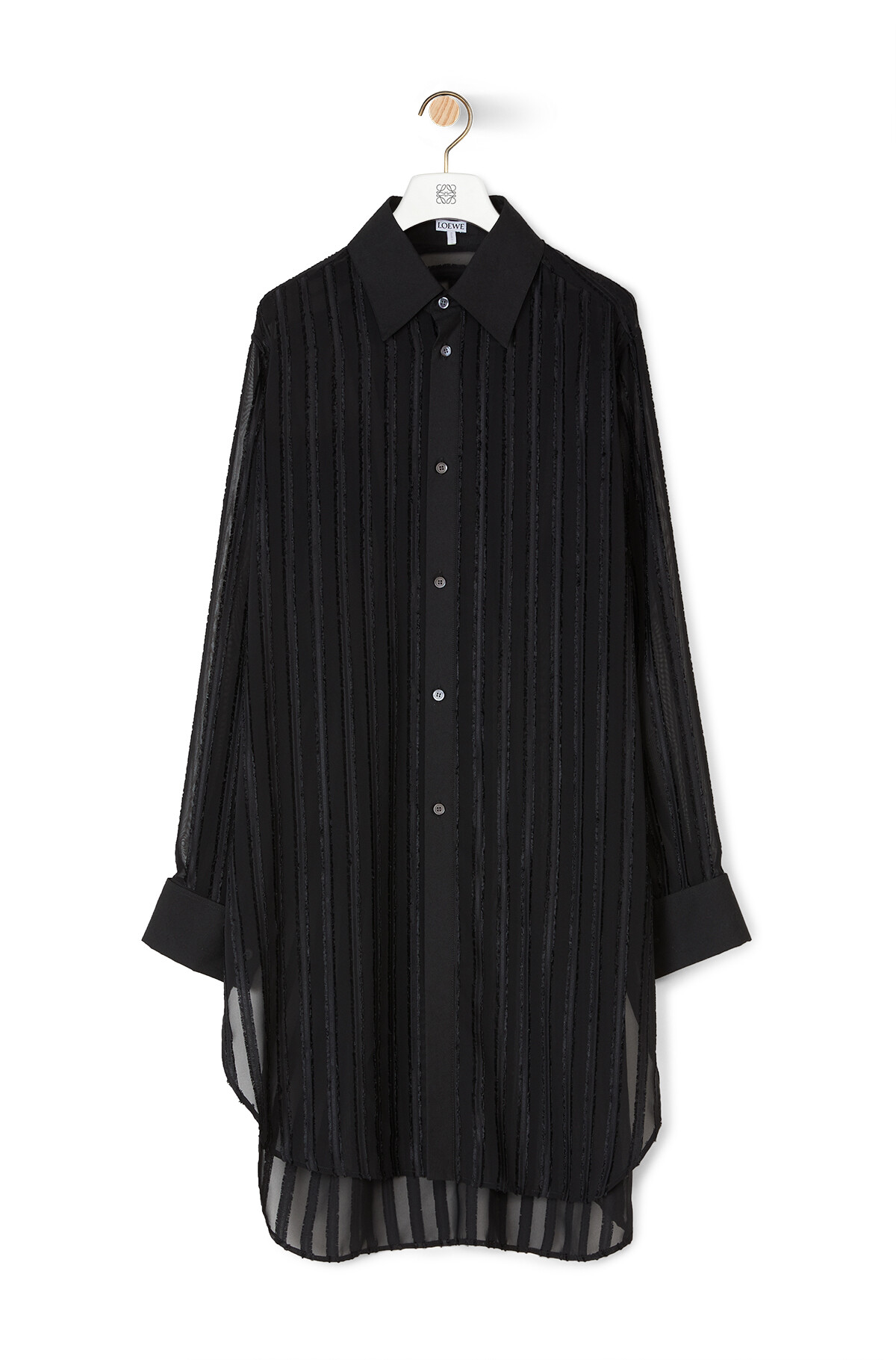 LOEWE Fil Coupe Oversize Shirt Black front