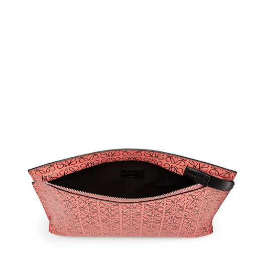 LOEWE T Pouch Repeat Rosa Tulipan/Negro front