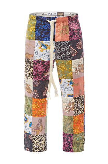 LOEWE Paula Patchwk Pyjama Trousers Multicolor front