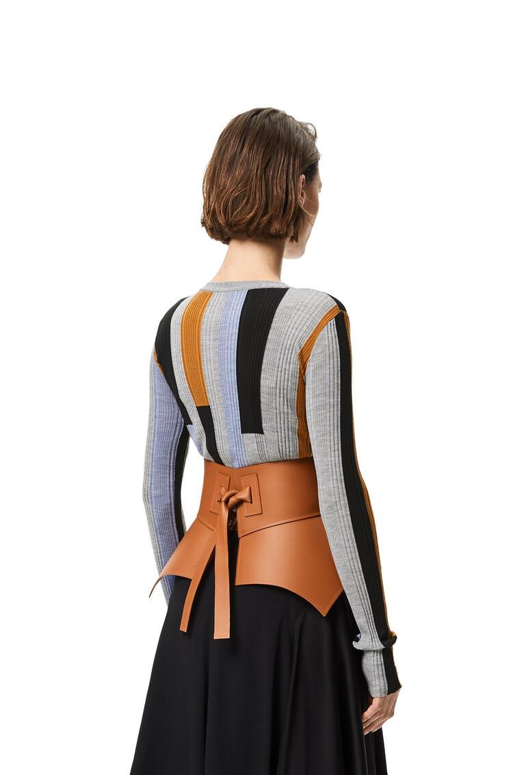 LOEWE Obi belt in nappa Tan pdp_rd