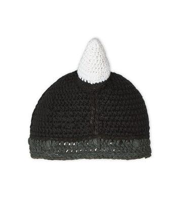 LOEWE Viking Knit Hat Negro front