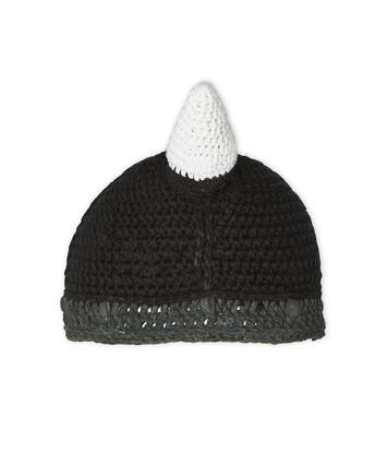 LOEWE Viking Knit Hat ブラック front