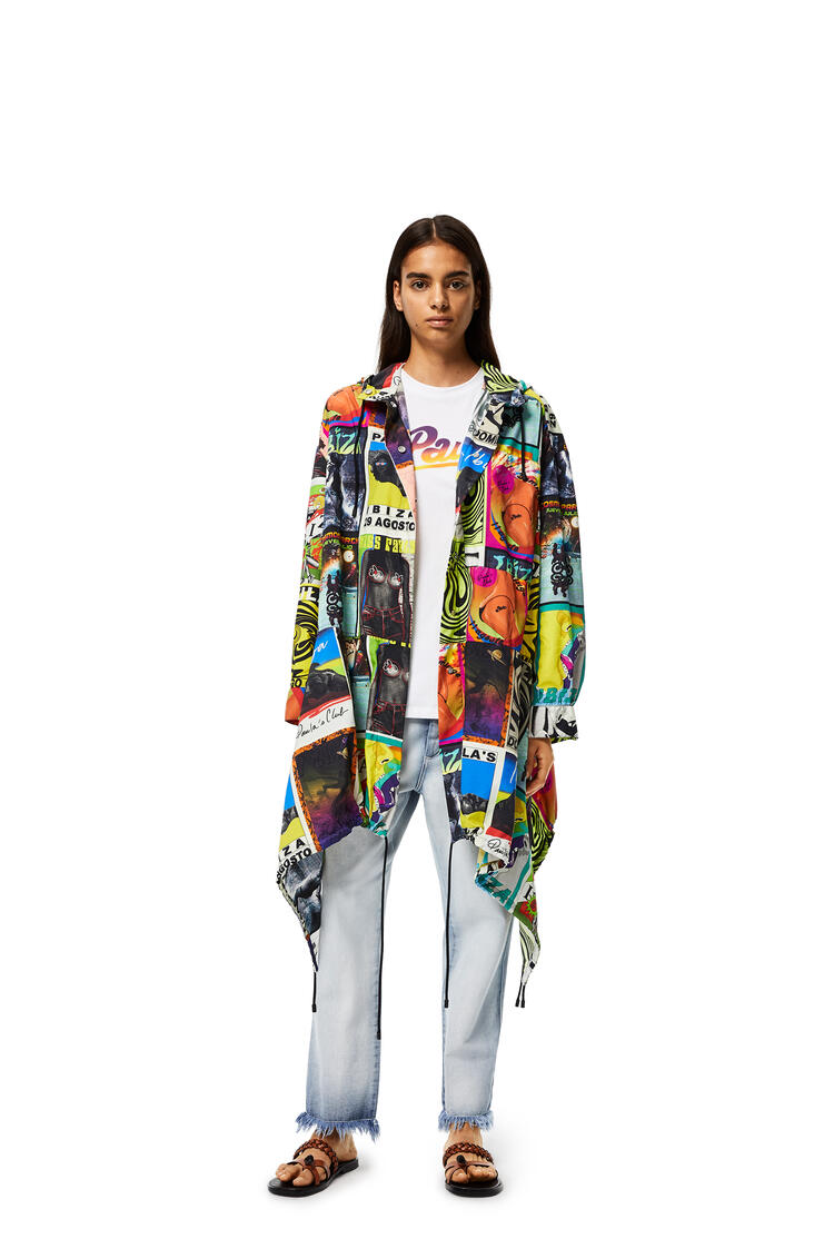 LOEWE Hoded parka with club flyer motif Multicolor pdp_rd