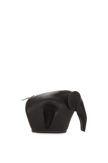 LOEWE Elephant charm in smooth calfskin 黑色/白色 pdp_rd