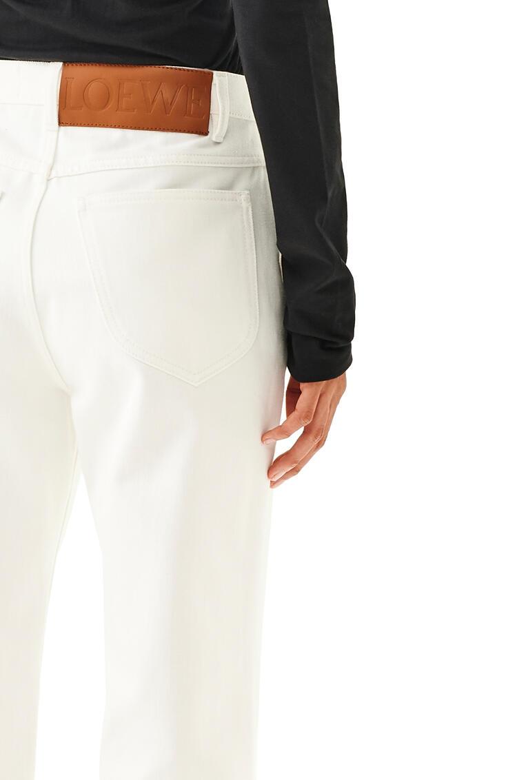 LOEWE Slit Trousers In Denim White pdp_rd