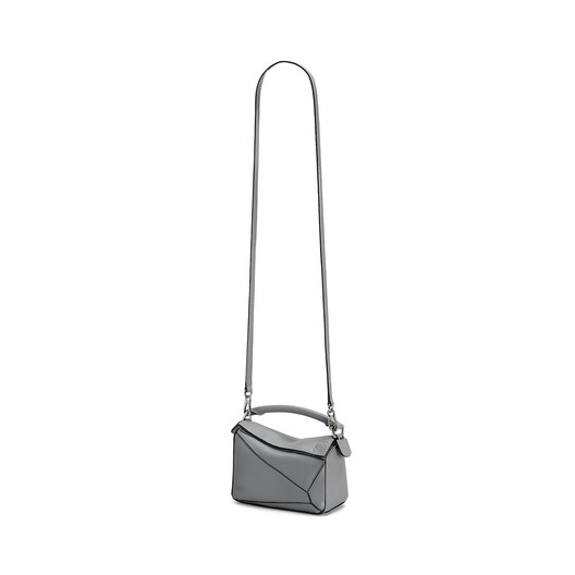 LOEWE Puzzle Mini Bag Gunmetal front