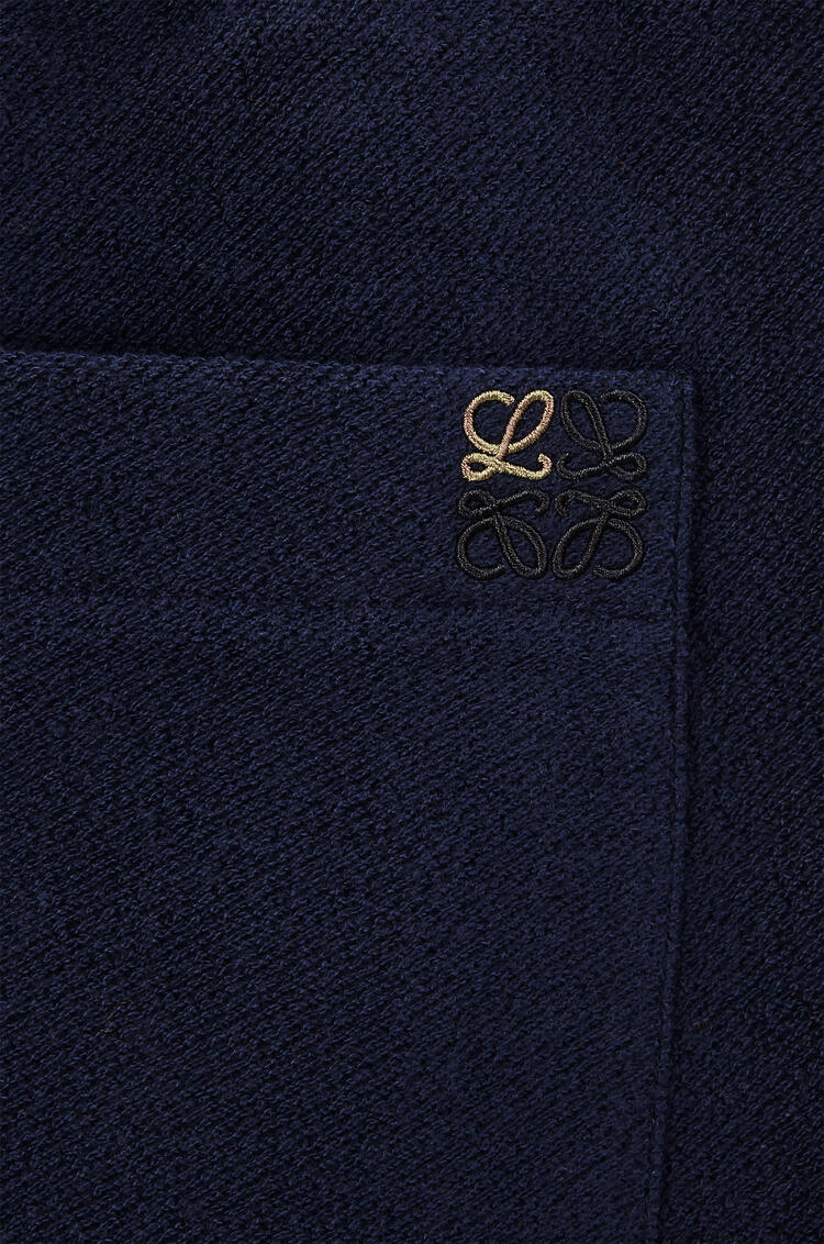 LOEWE Fleece track pants in cotton Navy Blue/Black pdp_rd