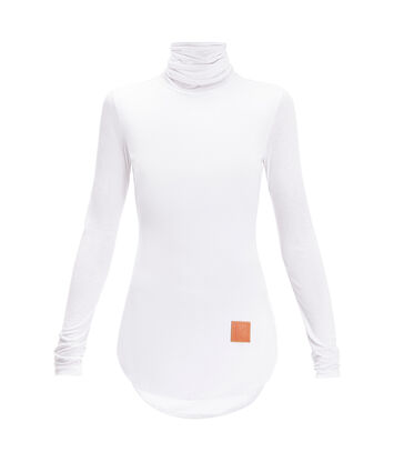 LOEWE High Neck Long Slv Top White front