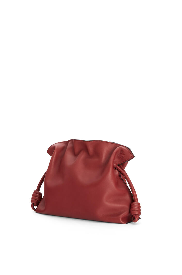 LOEWE Flamenco clutch in nappa calfskin Burnt Red pdp_rd