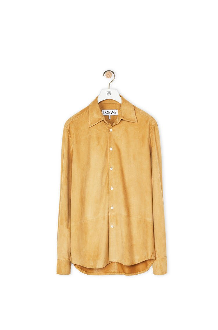 LOEWE Shirt in suede Gold pdp_rd