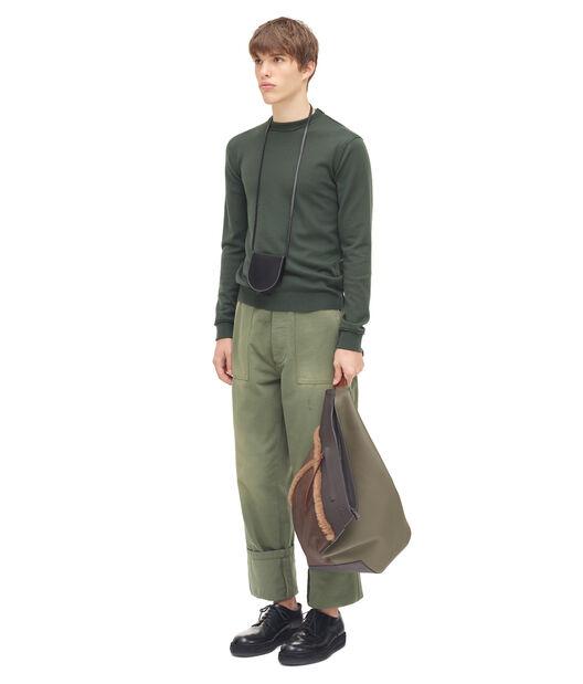 LOEWE Knitted Crewneck Verde Kaki all