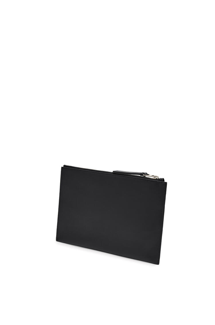 LOEWE Flat pouch in smooth calfskin 黑色 pdp_rd
