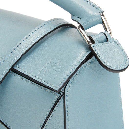 LOEWE Puzzle Mini Bag Light Blue front