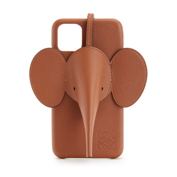 LOEWE Elephant Cover For Iphone 11 Tan front