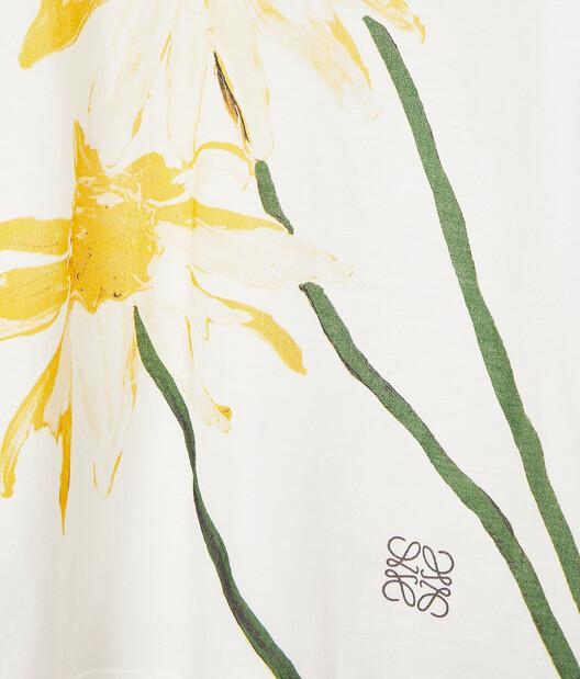 LOEWE Daisy Print Long Slv T-Shirt Ecru/Yellow  front