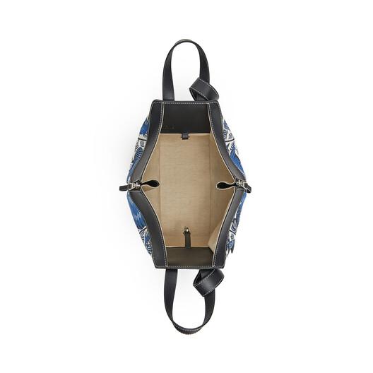 LOEWE Hammock Tiles Small Bag Blue front