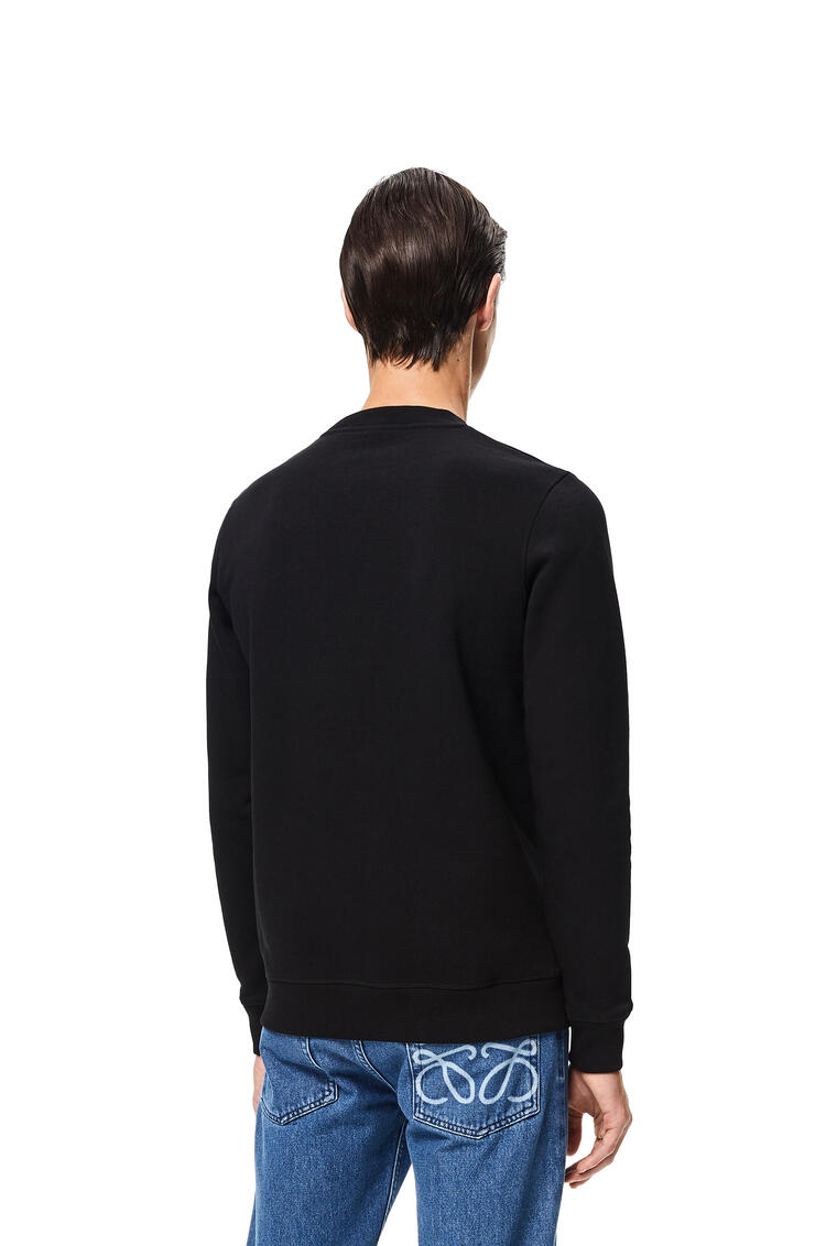 LOEWE ロエベ アナグラム エンブロイダリー スウェットシャツ(コットン) ブラック pdp_rd