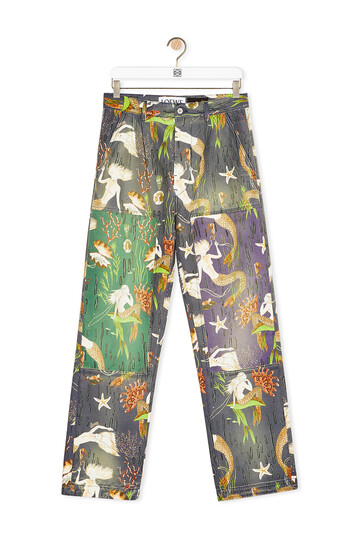 LOEWE Trousers In Mermaid Cotton Multicolor front