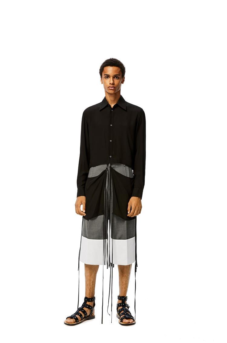 LOEWE Tie cut panel shirt in viscose Black pdp_rd