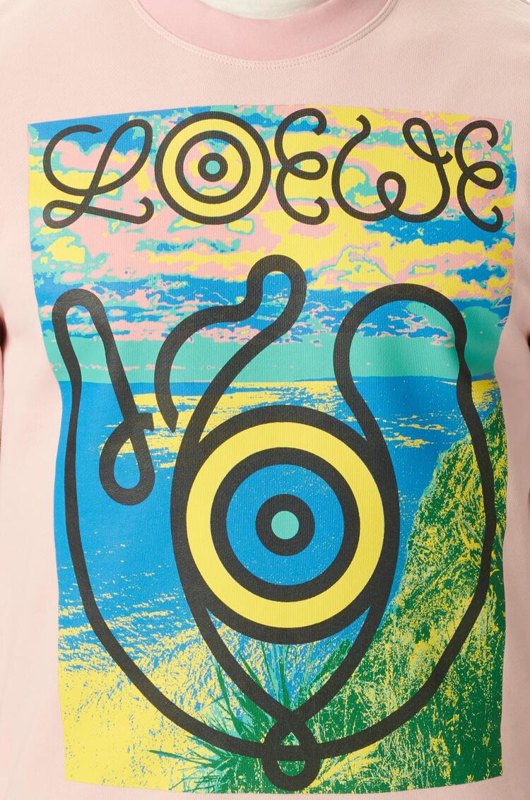 LOEWE Sweatshirt In Cotton Baby Pink pdp_rd
