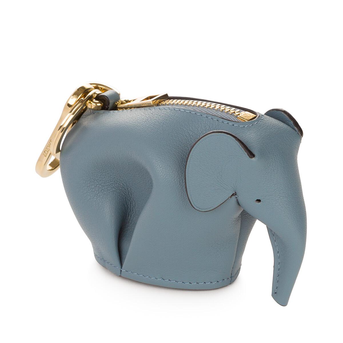 LOEWE Elephant Charm Stone Blue front