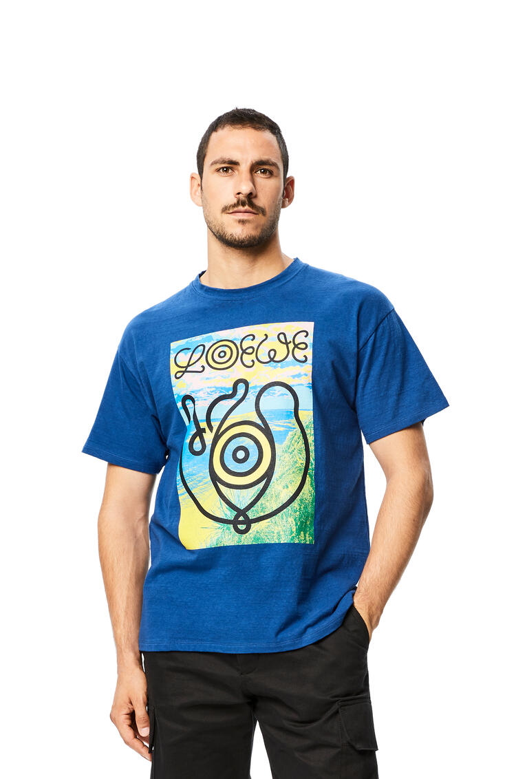 LOEWE Camiseta En Algodón Azul Royal pdp_rd