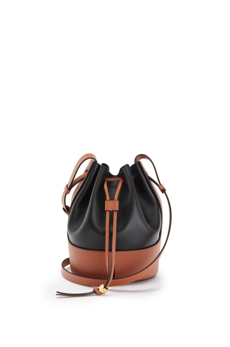 LOEWE Small Balloon bag in nappa calfskin Black/Tan pdp_rd