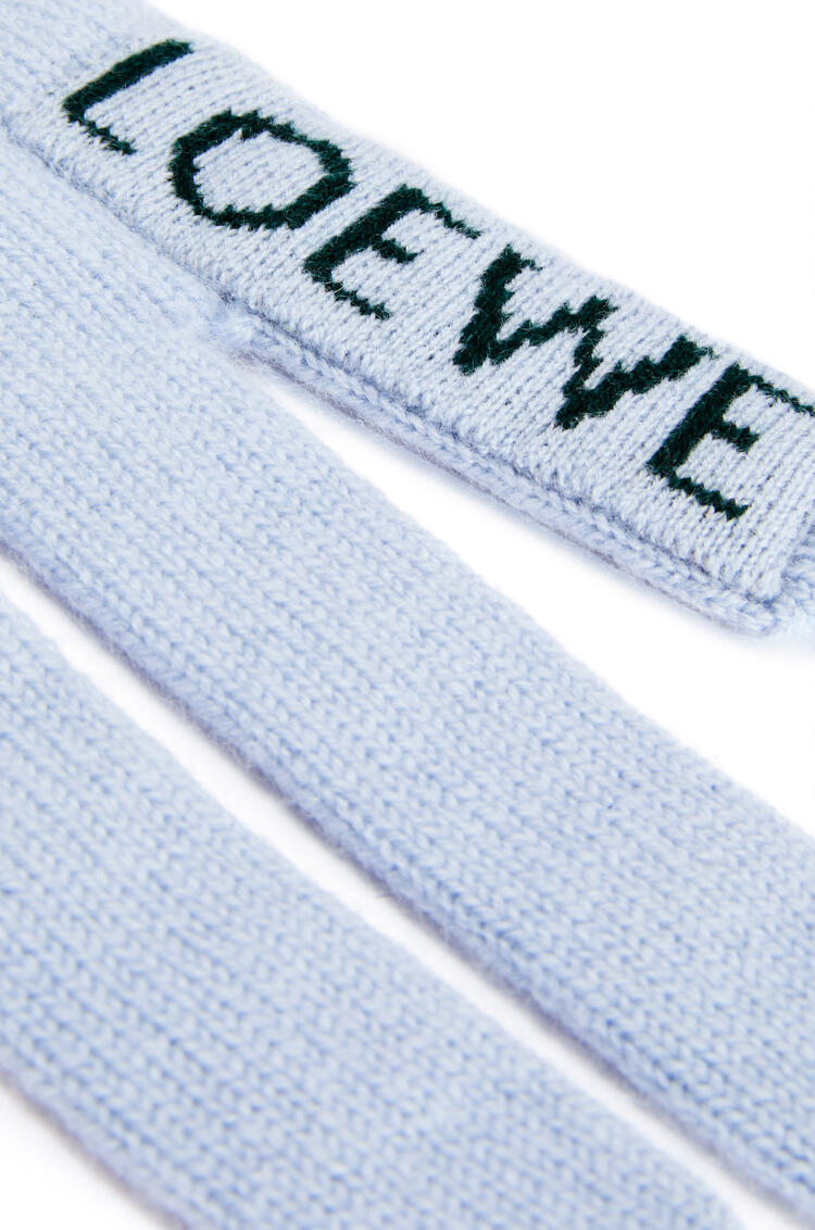 LOEWE Hand scarf in cashmere Light Blue/Green pdp_rd