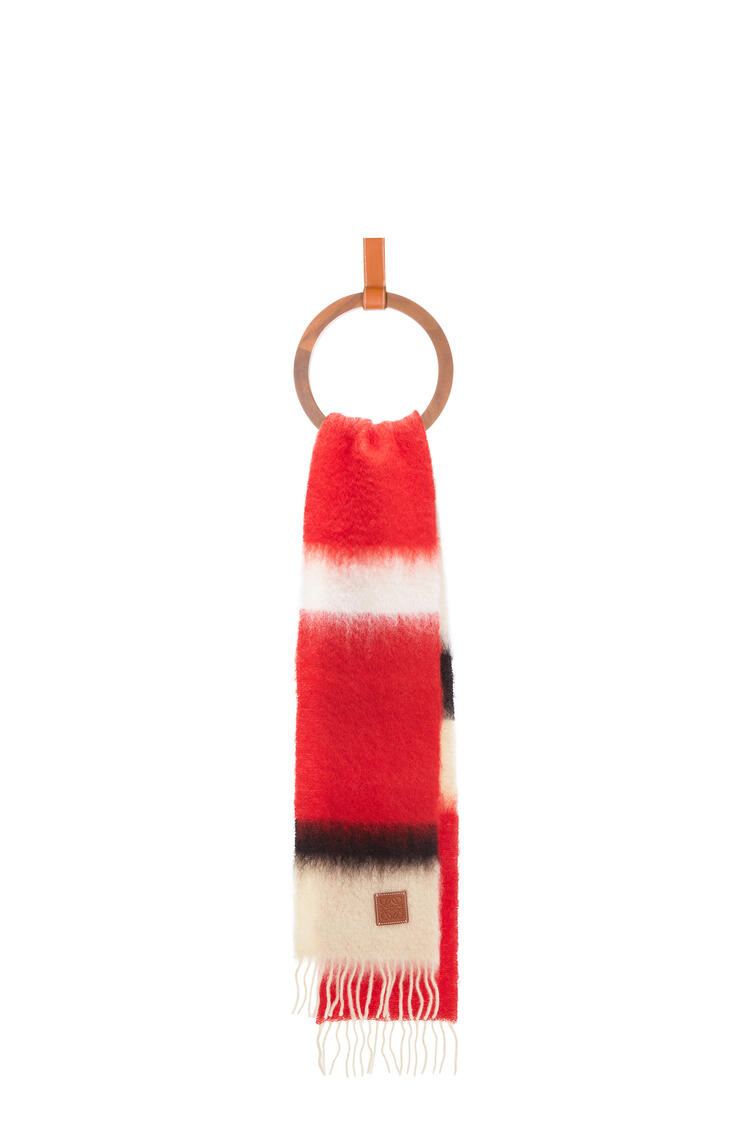 LOEWE 23x185 Scarf Stripes Red/Black pdp_rd