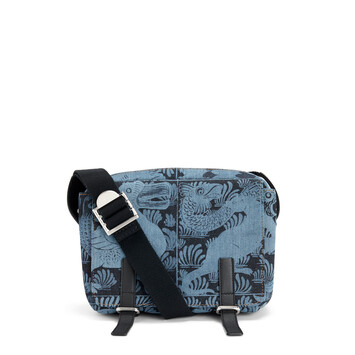 LOEWE Military Messenger Tiles Xs Bag Indigo/Black front